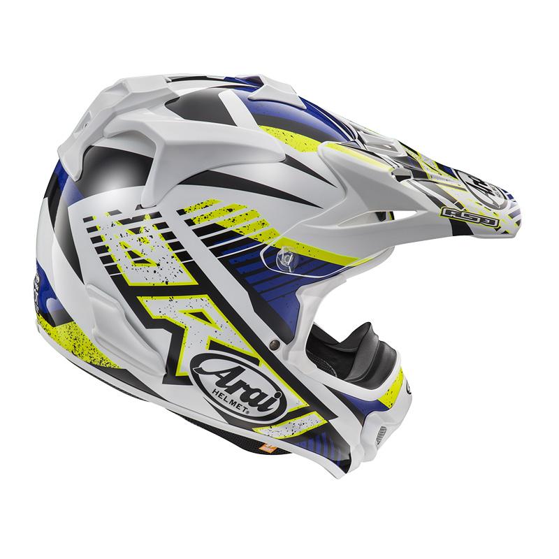 Arai MX-V Slash Blue Helmet Image