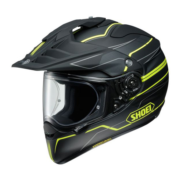 Shoei Hornet TC-3 Navigate Adventure Helmet Black/Flo Image