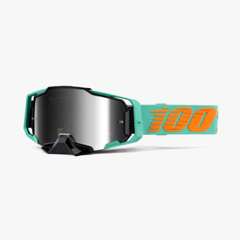100% Goggle Armega Clark Silver Lens Image