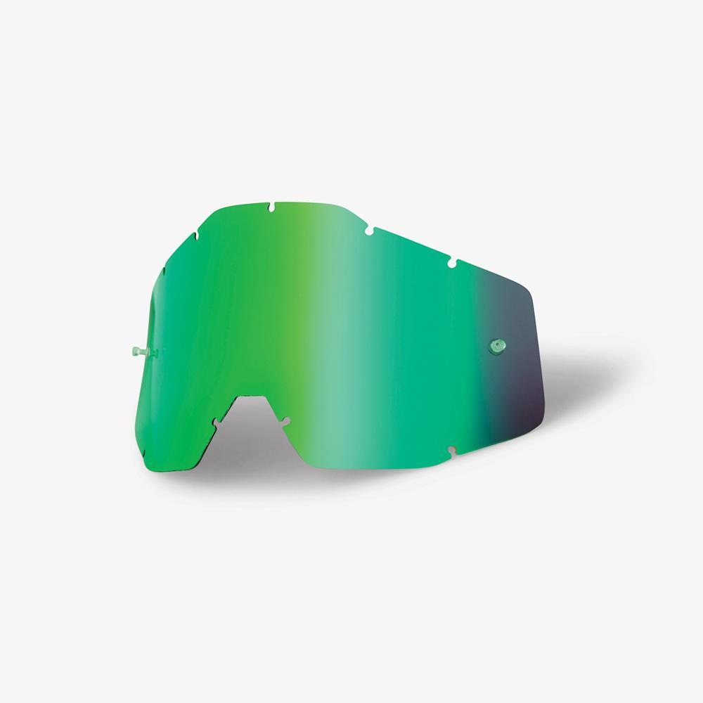 100% Lens Racecraft/Accuri - Green Mirror Image