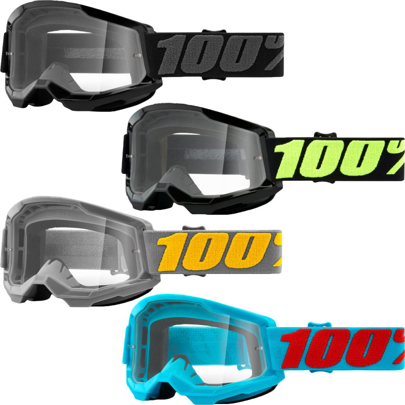 100% Goggle Strata Generation 2 - Clear Lens Image