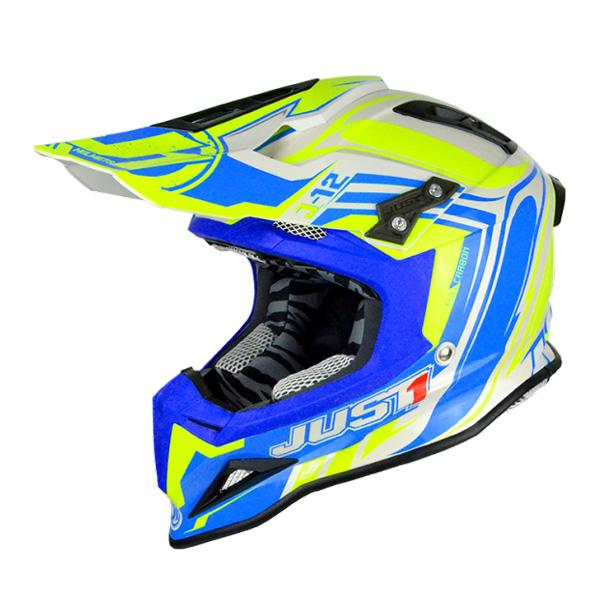 Just1 J12 Flame Carbon Helmet Bl/Yel Image