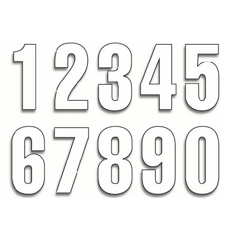 "Husqvarna - 4"" Start numbers white Image"