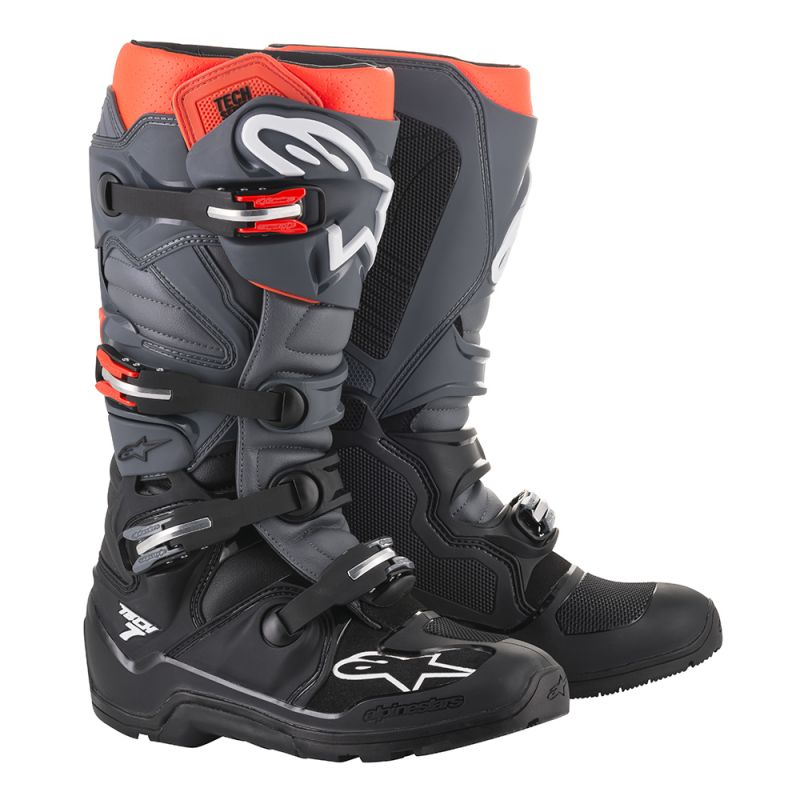 Alpinestars Tech 7 Enduro Boots Grey/Red Image