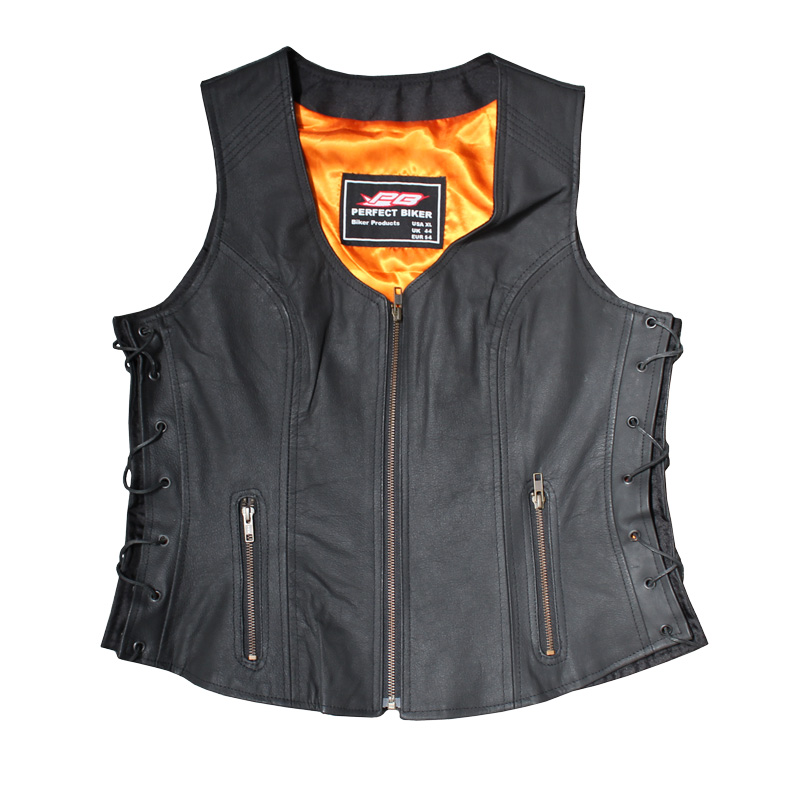 Biker Ladies Leather Vest Image