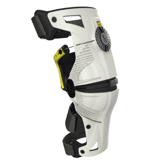 Mobius X8 Kneebrace White&Yellow - Youth Image