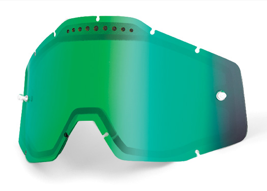 100% Racecraft/Accuri Green Mirror Lens Image
