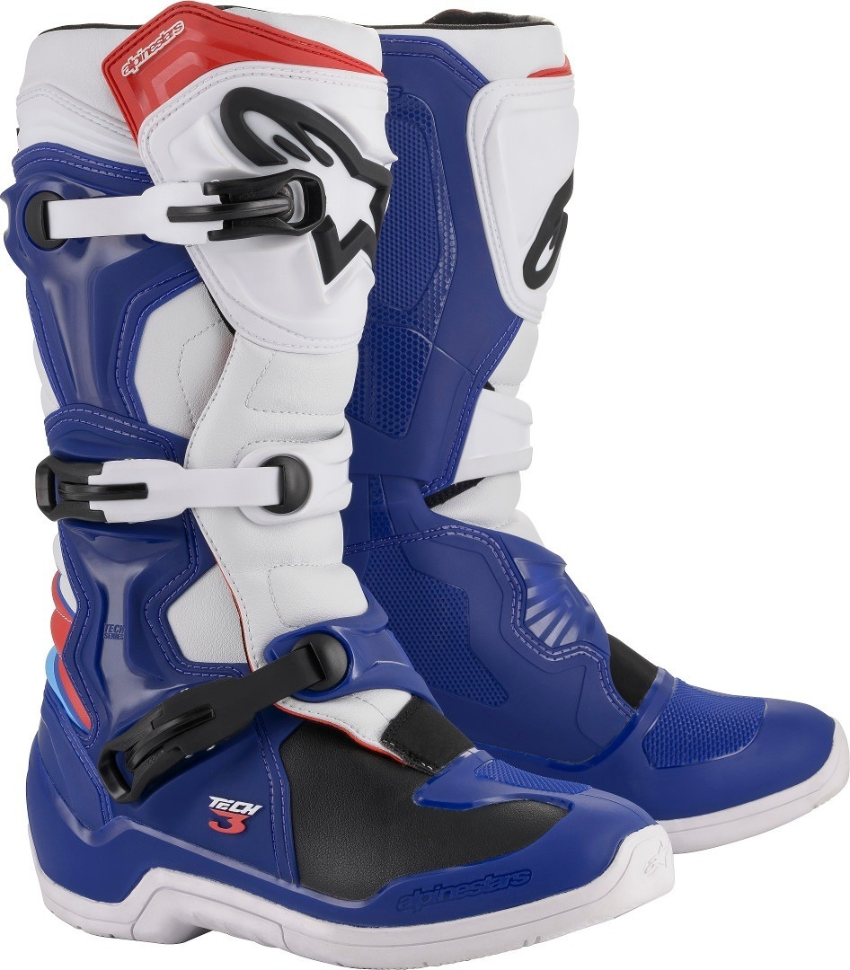 Alpinestars Tech 3 Boot Blue/Red/White Image