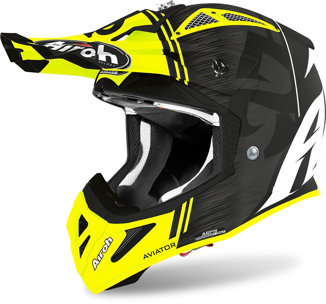 Airoh Aviator ACE Kybon Helmet Yellow Matt Image