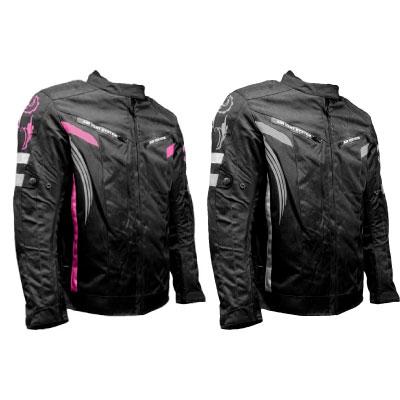 Biker Zone Ladies Pink Textile Jacket Image