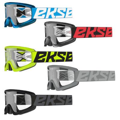 Eks Brand Flatout Clear Goggles Image