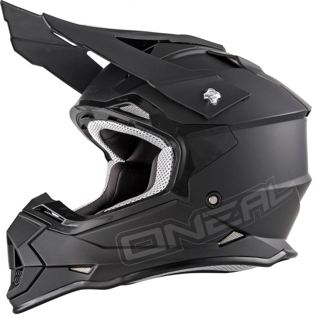 O´Neal 2Series Flat Black Motocross Helmet Image
