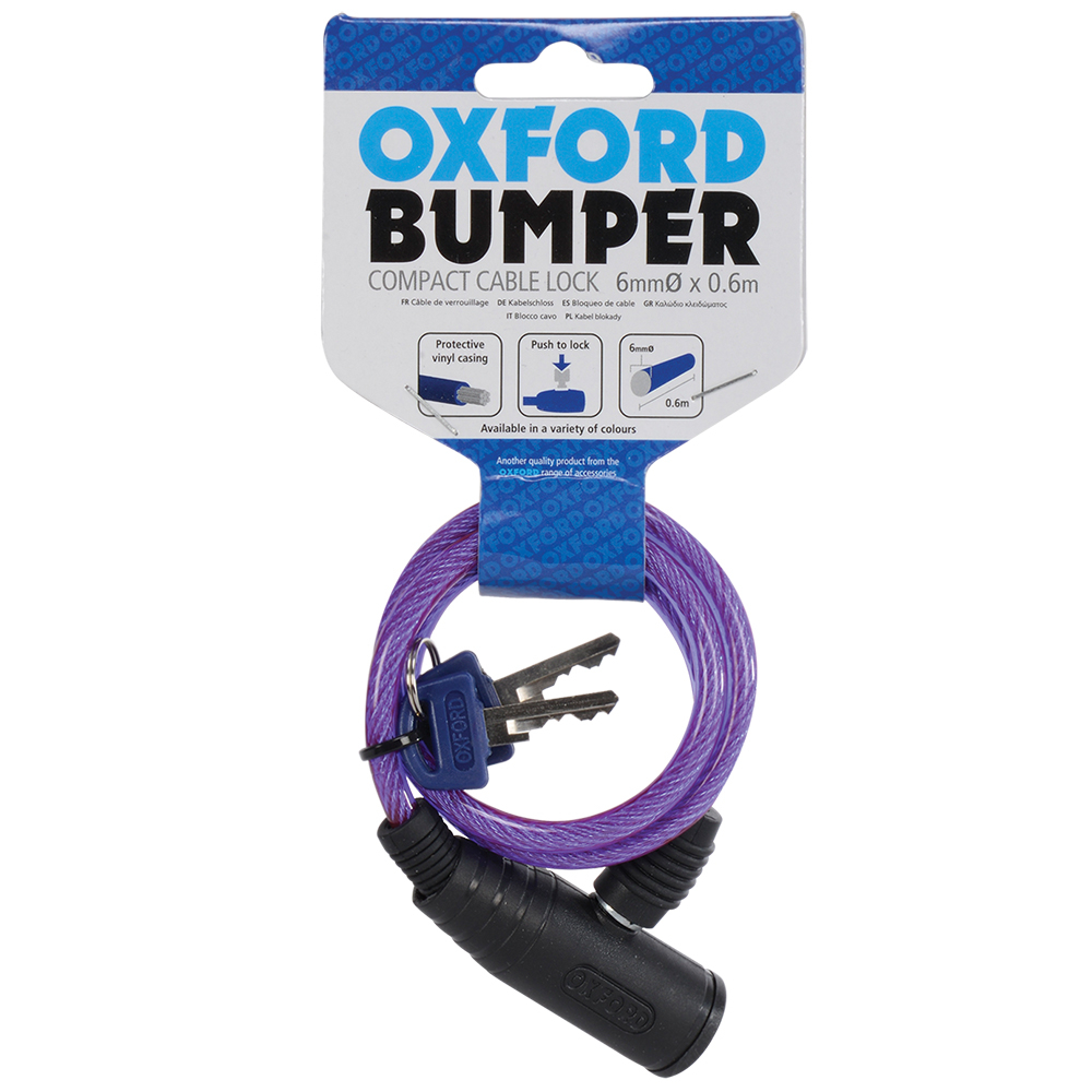 Oxford Bumper Cable Lock 6mm x 600mm Image