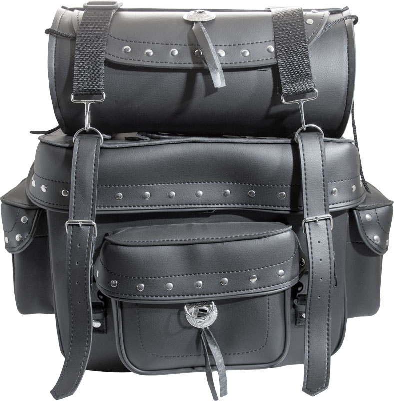 Leather Sissy-Bar Bag With Duffle Bag Image