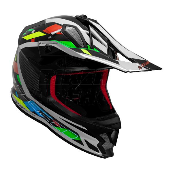 Faseed FS 609 Helmet Multi Colour Image