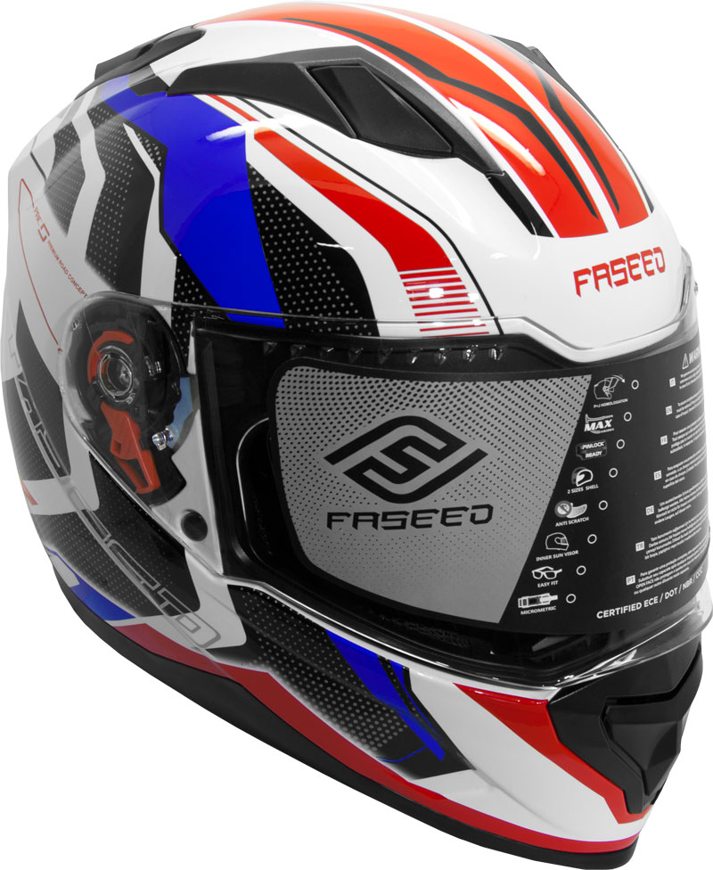 Faseed FS 819 Helmet Blue Red Image