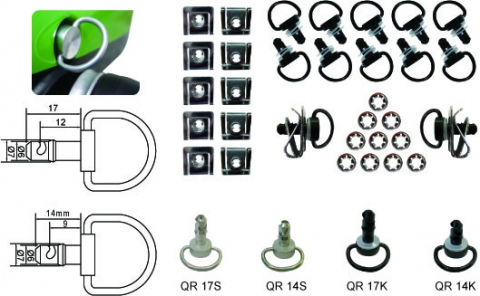 Quick Release Clips 17mm Black (10 per pack) Image