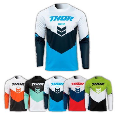 Thor Sector Chevron Motocross Youth Jersey Image