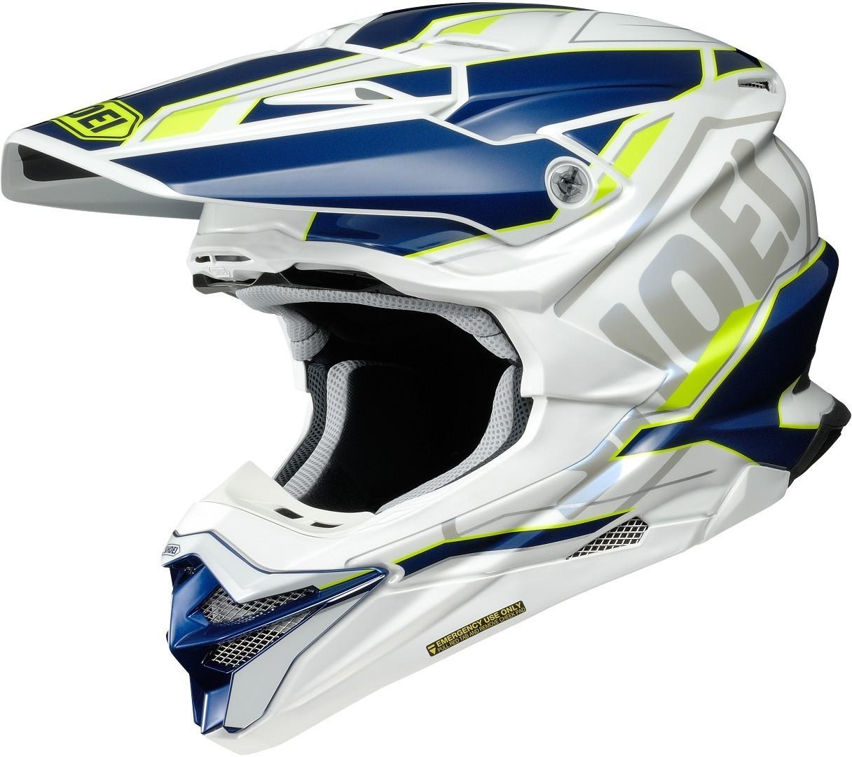 Shoei VFX-WR Allegiant Helmet - White, Blue & Flo Image