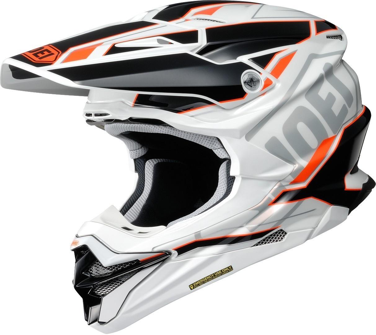 Shoei VFX-WR Allegiant Helmet - White, Orange & Black Image