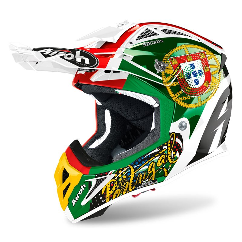 Airoh Aviator 2.3 Six Days Portugal Limited Edition Helmet Image