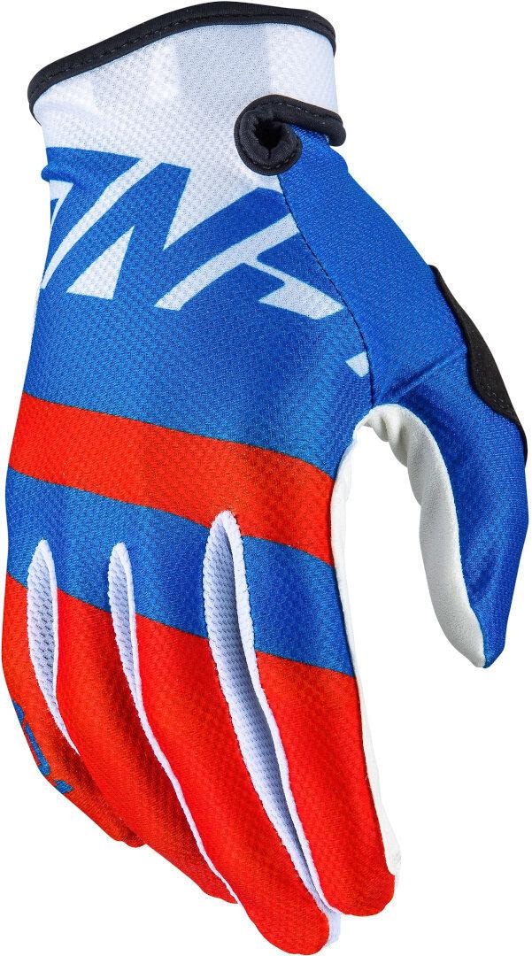 Answer AR1 Voyd Motocross Gloves - Red/White/Blue Image