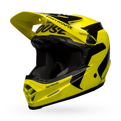 Bell Moto-9 Youth Mips Fasthouse Newhall Gloss Hi-viz/black Image