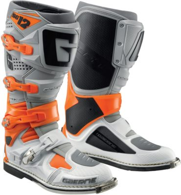 Gaerne SG-12 Boots Limited Edition - Orange, Grey & White Image