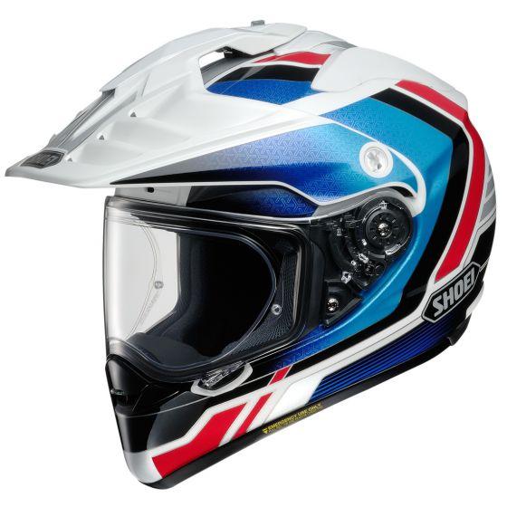 Shoei Hornet X2 Sovereign Helmet - Red, Black & Blue Image