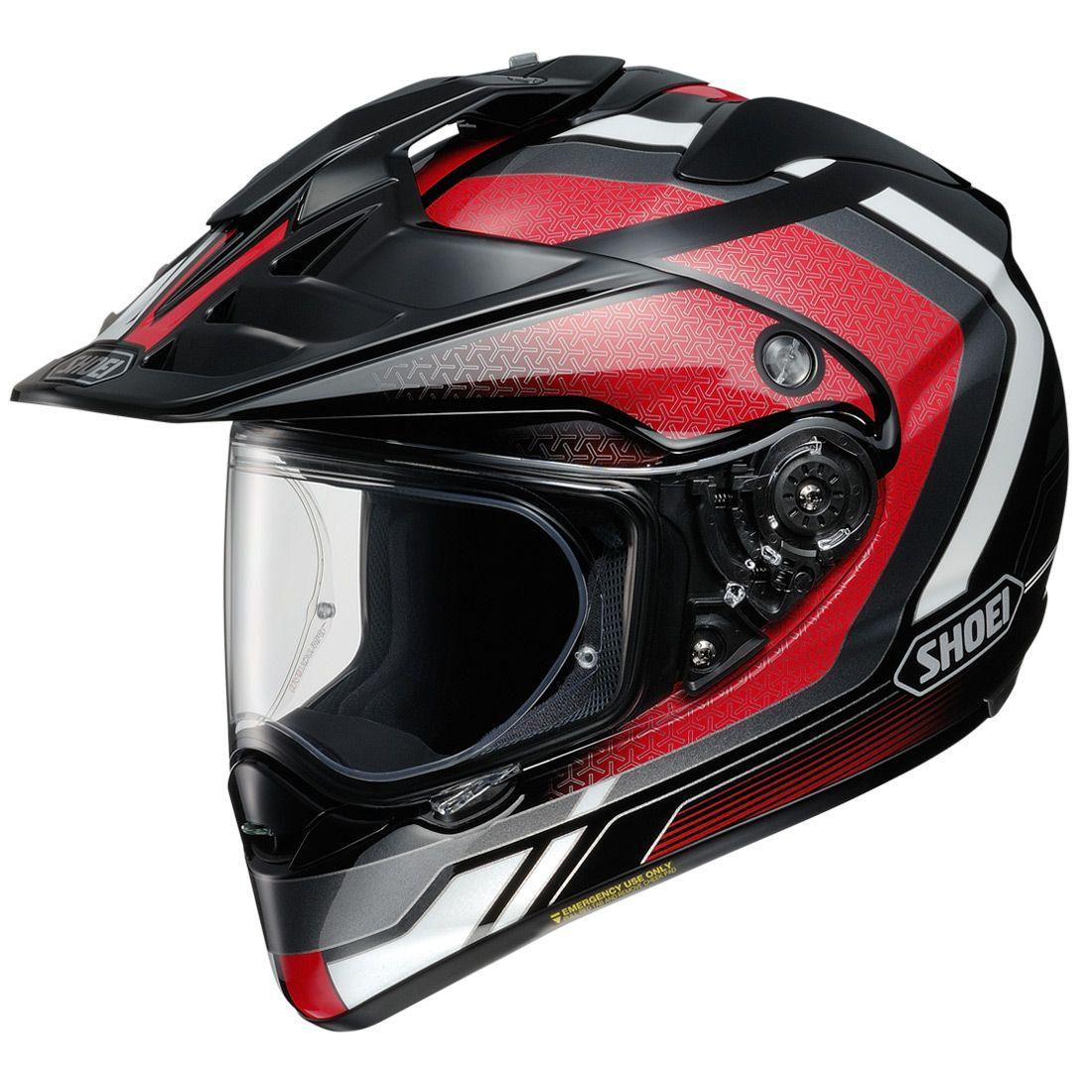 Shoei Hornet X2 Sovereign Helmet - Red, Black & White Image