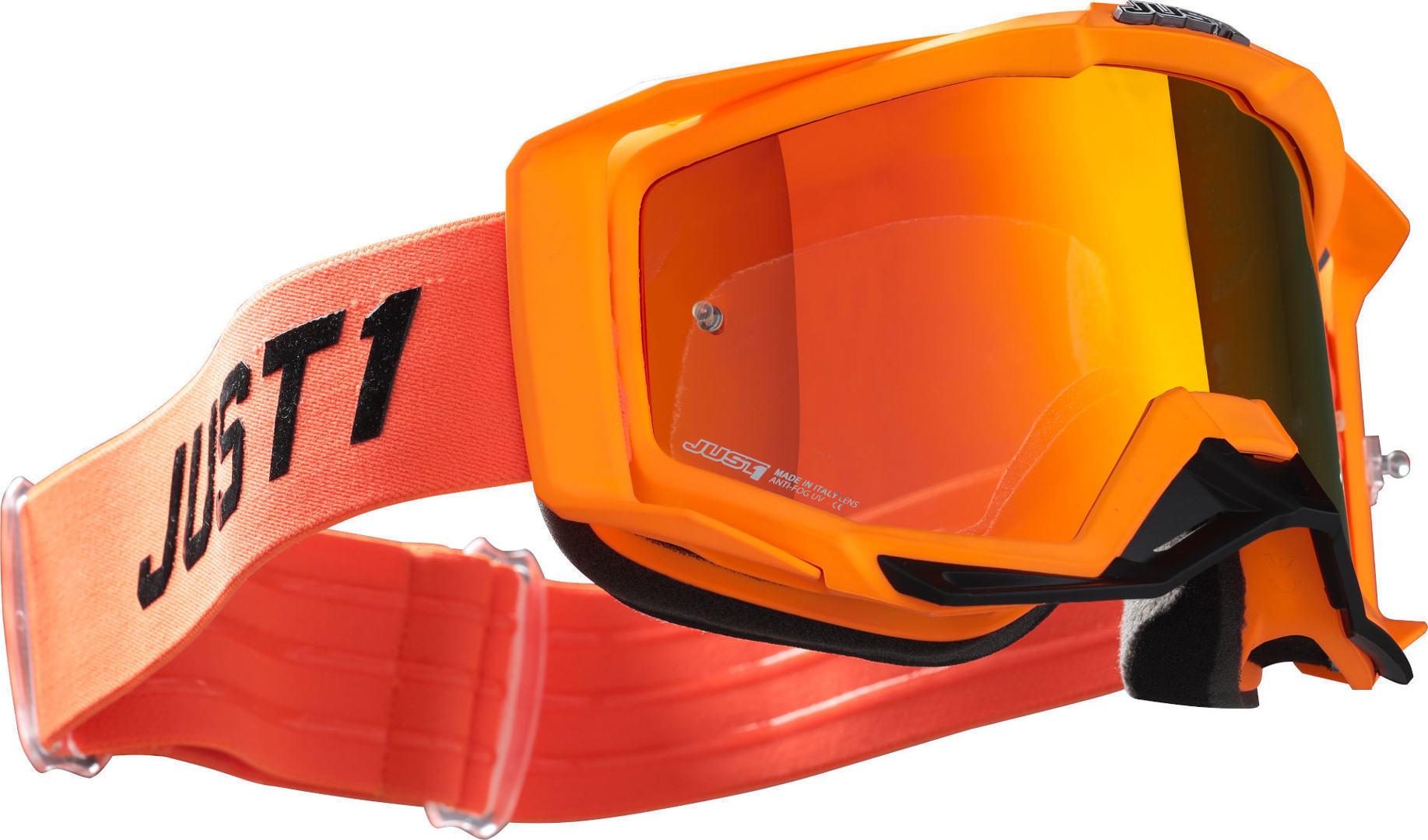 Just1 Iris Pulsar Motocross Goggles Orange Image