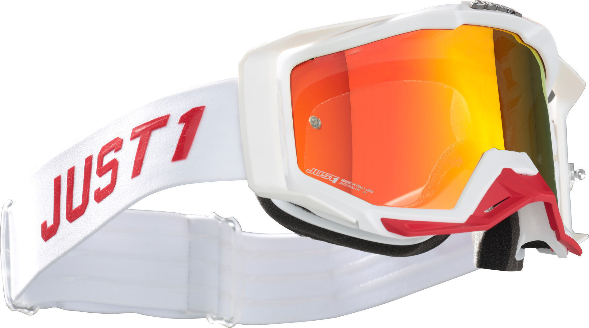 Just1 Iris Pulsar Goggles White/Red Image