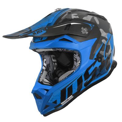 Just1 J32 Pro Swat Camo Youth Helmet Blue Image