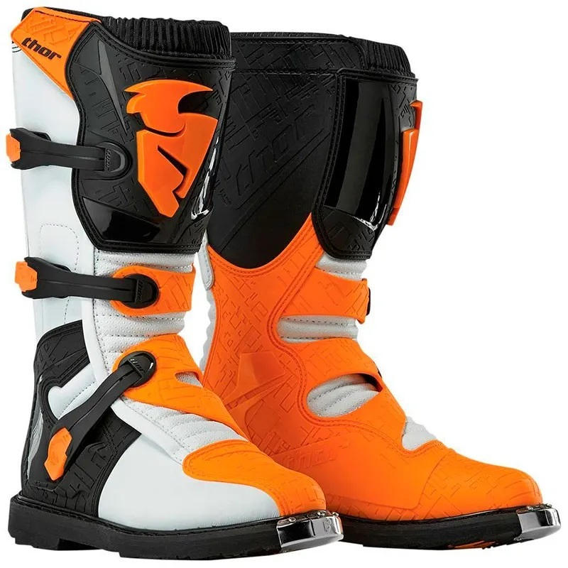 Thor Blitz XP Youth Boots Orange/White Image